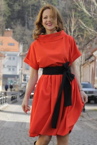 Rochie portocalie,...