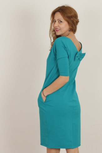 Rochie casual turquoise din...