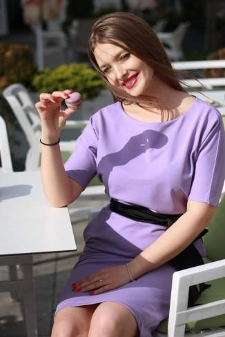 Rochie casual lila din...
