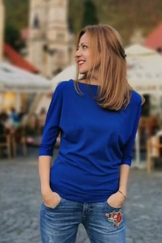 Bluza uni  albastru...