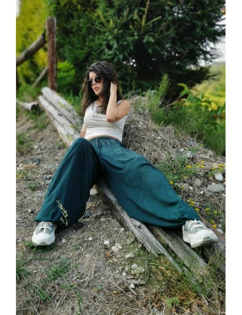 Pantaloni nomad verde inchis