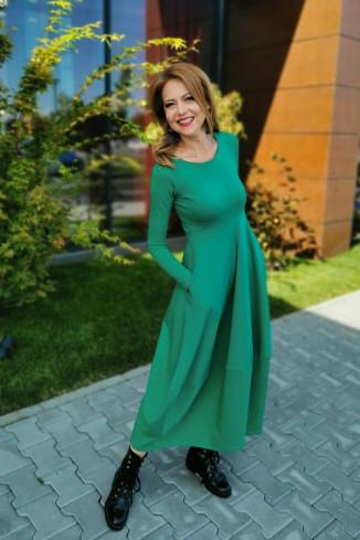 Rochie verde lunga, comoda,...