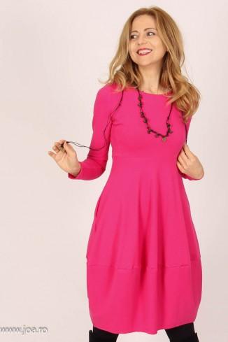 Rochie roz midi tip balon,...