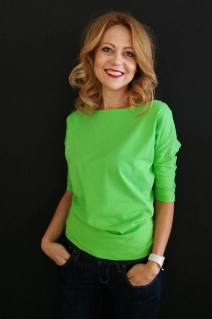 Bluza uni  verde crud cu...